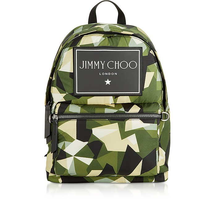 Wilmer CIN Backpack w/ Camo Print - Jimmy Choo