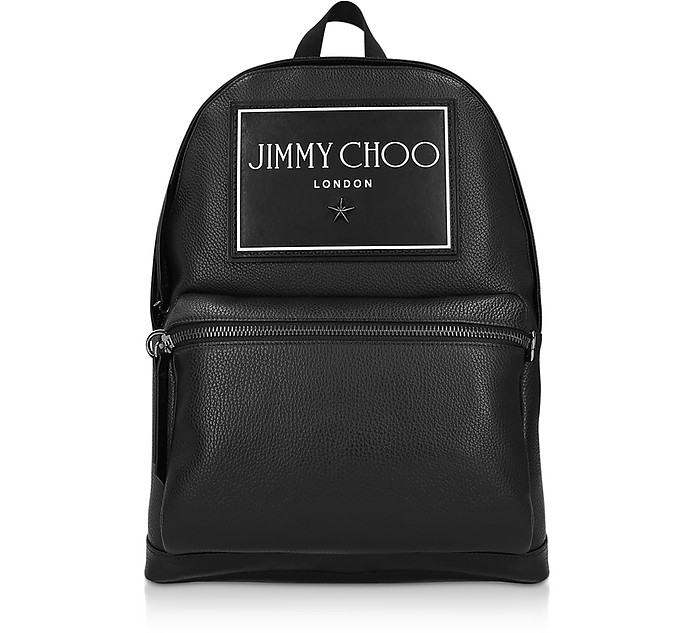Black Leather Wilmer GNL Backpack - Jimmy Choo周仰杰