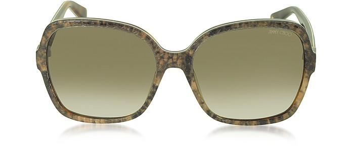 LORI/S 6UJDB Oversize Python Print Acetate Women's Sunglasses - Jimmy Choo / ジミー チュウ