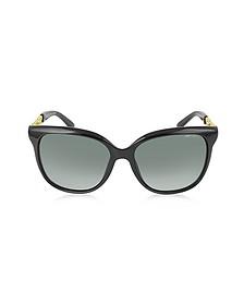 BELLA/S BMBHD Black Acetate Frame Women's Sunglasses - Jimmy Choo