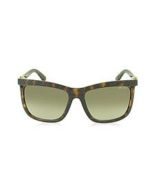 REA/S 791HA Havana Lizard Acetate Women's Sunglasses - Jimmy Choo