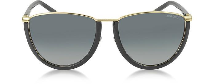 MILA/S WL4HD Gold and Black Women's Sunglasses - Jimmy Choo