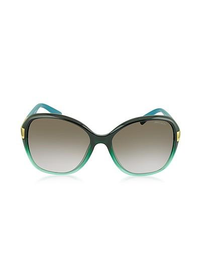 ALANA/S Round Framed Sunglasses w/Crystal Inserts - Jimmy Choo