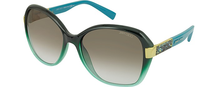 0e188dcbb9ad ALANA S Round Framed Sunglasses w Crystal Inserts - Jimmy Choo.  365.00  Actual transaction amount