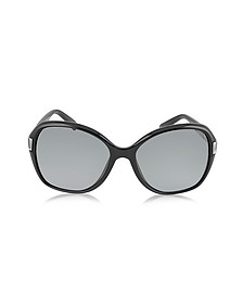 ALANA/S Round Framed Sunglasses w/Crystal Inserts - Jimmy Choo
