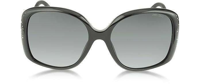 ZETA/S 2X4HD Black Oversized Square Frame Sunglasse - Jimmy Choo