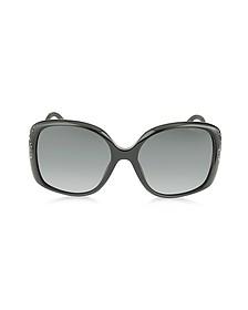 ZETA/S 2X4HD Black Oversized Square Frame Sunglasse