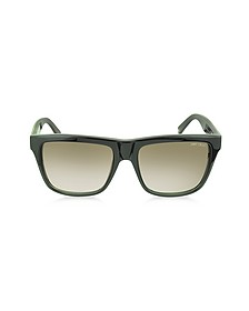 ALEX/N/S 9H7JS Black Leopard Print Square Frame Sunglasses - Jimmy Choo
