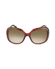 WILEY/S BMFPG Burgundy Havana Oversize Sunglasses