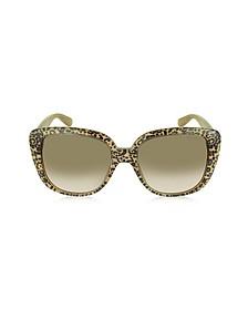 LALLY/S S89JD Oversize Leopard Print Acetate Sunglasses