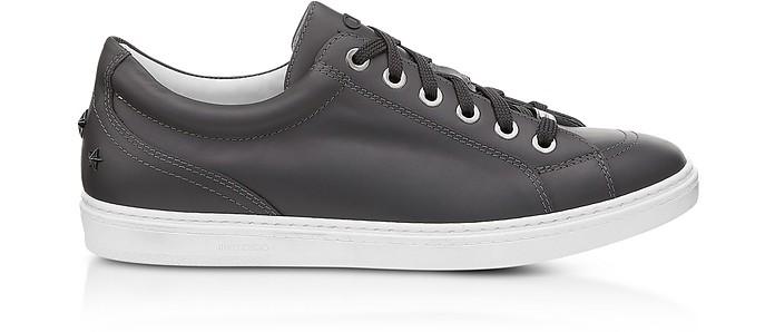 Jimmy choo Designer Shoes, Cash Navy Velvet Low Top Sneakers w/Studded Stars