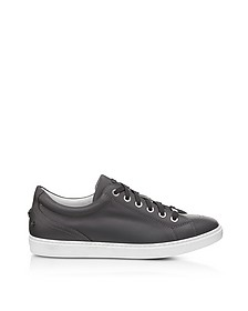 Cash SML Slate Leather Low Top Sneakers w/Studded Stars - Jimmy Choo