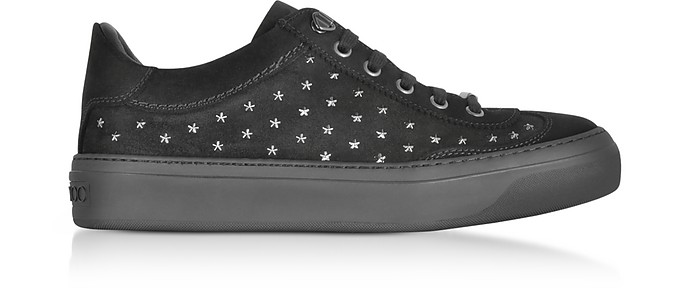 Ace UMP Sneakers in Suede Nero con Stelle Jimmy Choo 39 (39 EU)