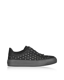 Ace UMP Black Suede w/Stars Lace up Sneakers - Jimmy Choo