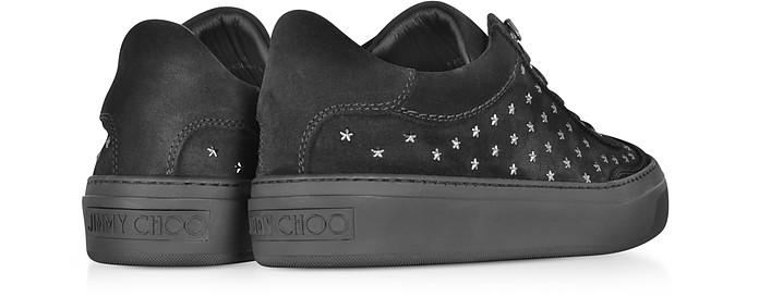 Ace UMP Sneakers in Suede Nero con Stelle Jimmy Choo 39 (39 EU) Z7BdK