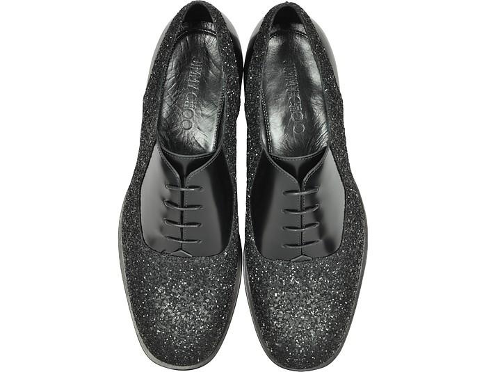 Tyler OGA Scarpa Oxford in Pelle e Fabric Glitter Jimmy Choo 39 (39 EU) cKSS3T6QrK