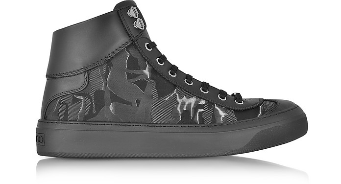 Fabric Camo Argyle Mix Top Sneaker High WEI29DHY