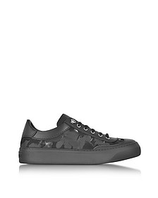 Ace Black Camo Fabric Mix Low Top Sneakers - Jimmy Choo