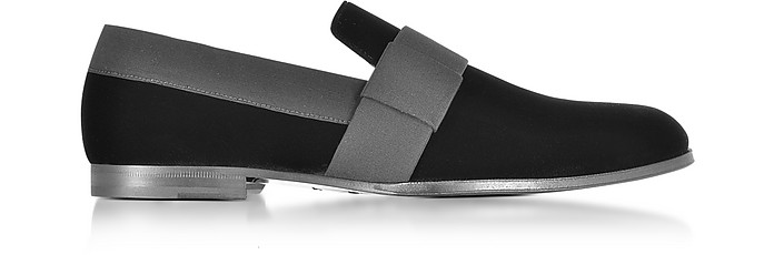 Jimmy Choo Grey Velvet John Loafers tB7TxE