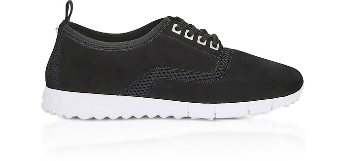 Jenson Black Black Mesh and Suede Trainers - Jimmy Choo