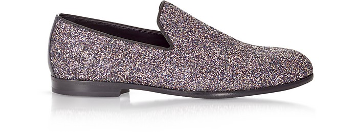 Marlo Twilight Glitzy Glitter Fabric Slippers - Jimmy Choo / ジミー チュウ