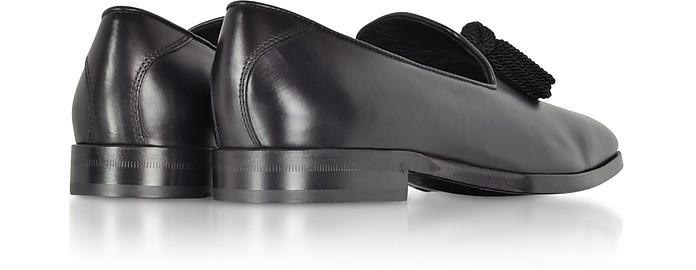 e556610329e Jimmy Choo Foxley Black Soft Nappa Leather Tasselled Slippers 39 (6 ...
