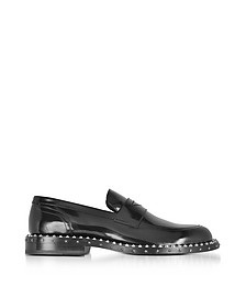 Black Leather Stars and Studs Men's Loafer - Jimmy Choo