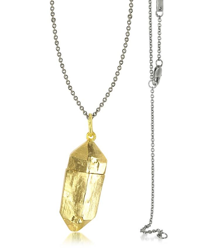 Magic Hour - Rock Box Golden Charm Necklace - Bjorg