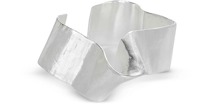 Silver A Stream Comes Up Armcuff - Bjorg