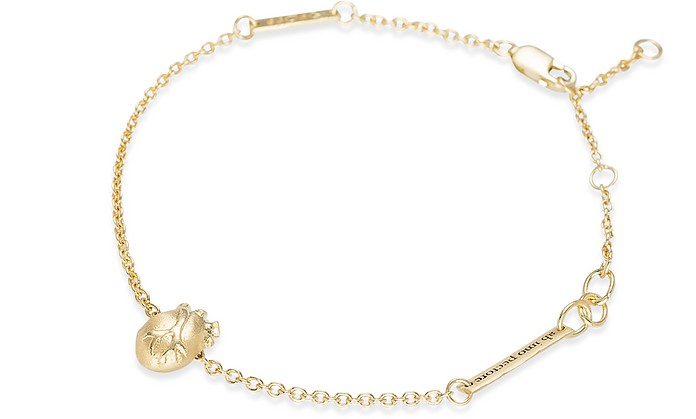 Small Gold Anatomic Heart Bracelet - Bjorg