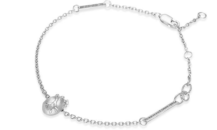 Small Gold Anatomic Heart Bracelet - Bjorg