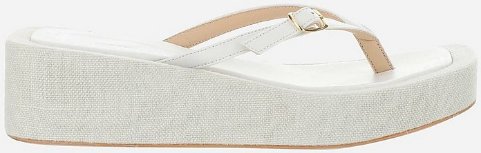 Les Tatanes White Flip-Flop Platform Sandals - Jacquemus
