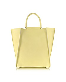 Minimal Tote in Pale Yellow Leather
