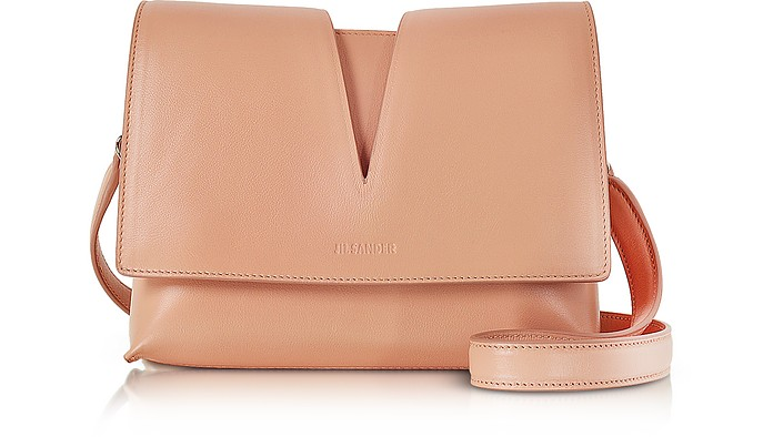 Jil Sander View Open Tan Soft Leather Small Shoulder Bag at FORZIERI b56a15ef3a34e