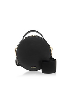 Black Leather Round Crossbody Bag - Jil Sander