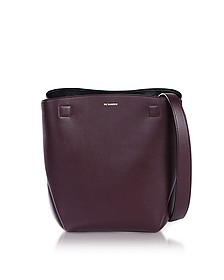 Dark Purple Leather Bucket Bag - Jil Sander