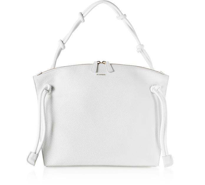 Natural Leather Medium Hill Shoulder Bag - Jil Sander