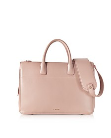 Open Pink Leather Satchel Bag - Jil Sander