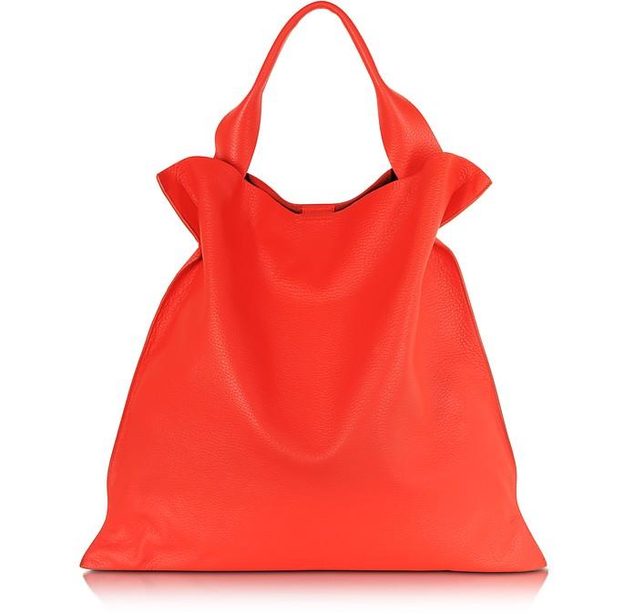Bright Orange Leather Xiao Bag - Jil Sander