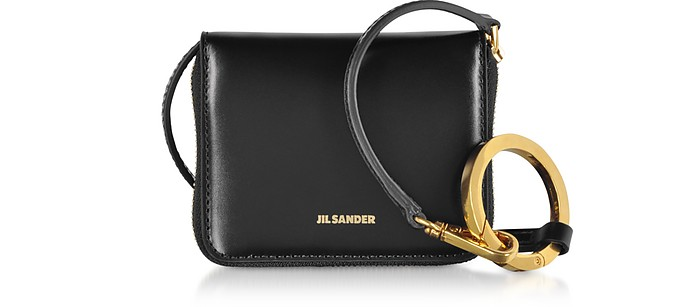 Hook Zip Around Small Wallet Crossbody Bag - Jil Sander