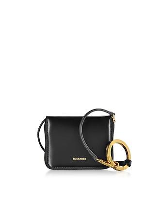 2293f3ea939 Hook Zip Around Small Wallet Crossbody Bag - Jil Sander