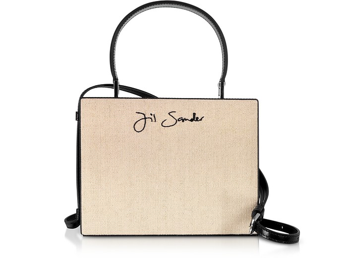 Cotton and Linen Case Small Clutch - Jil Sander