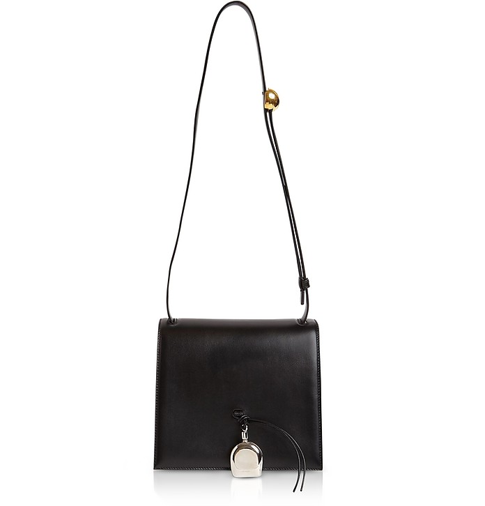 Bottle Small Black Leather Crossbody Bag - Jil Sander / ジル サンダー