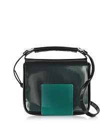 Dark Green/Aubergine Iridescent Lady J Crossbody Clutch