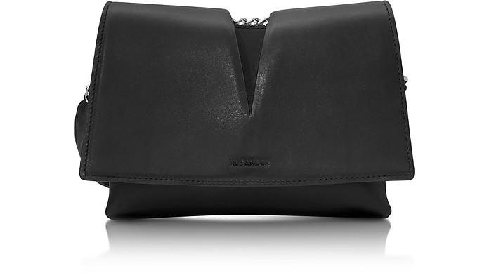View Small Black and Nude Leather Shoulder Bag - Jil Sander