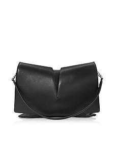 View Medium Black and Nude Leather Shoulder Bag