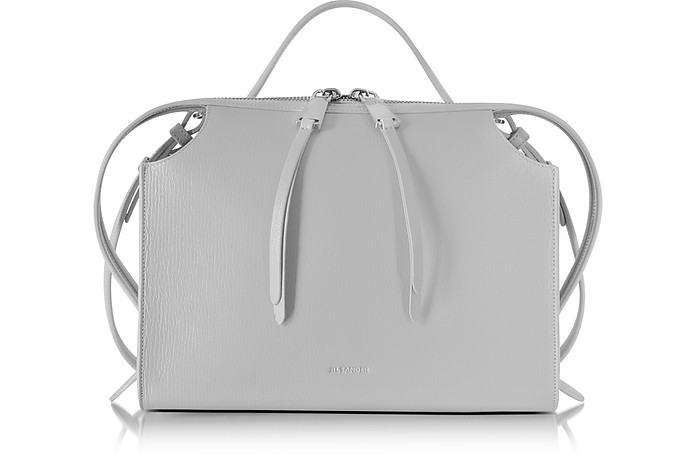 Light Pastel Gray Small Clover Leather Satchel Bag - Jil Sander / ジル サンダー