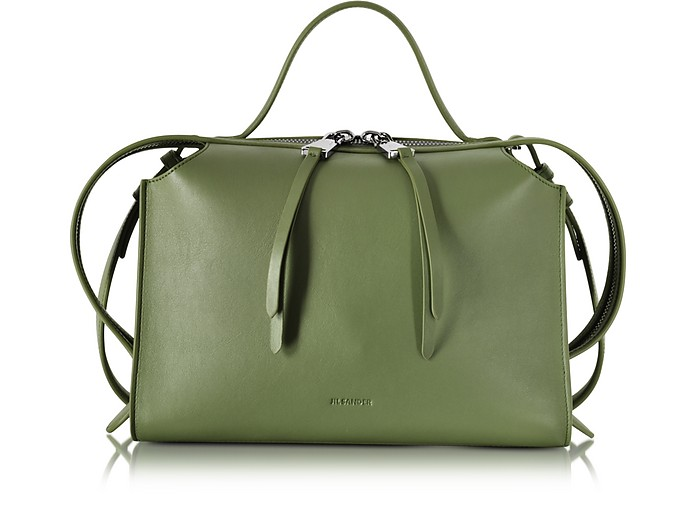 Bright Green Small Clover Leather Satchel Bag - Jil Sander / ジル サンダー