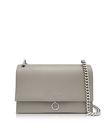 Open Beige Leather Medium Ring Shoulder Bag - Jil Sander
