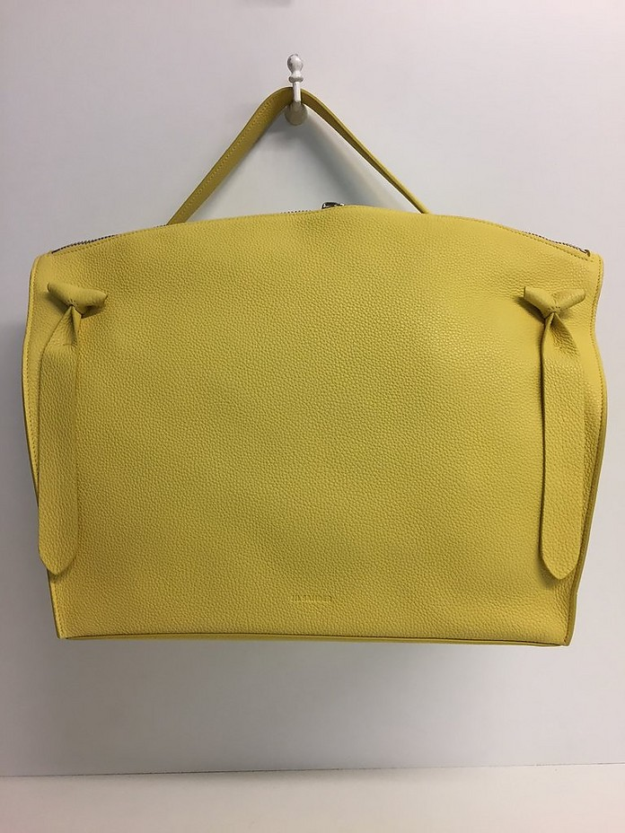 Grainy Leather Top-Handle Bag - Jil Sander